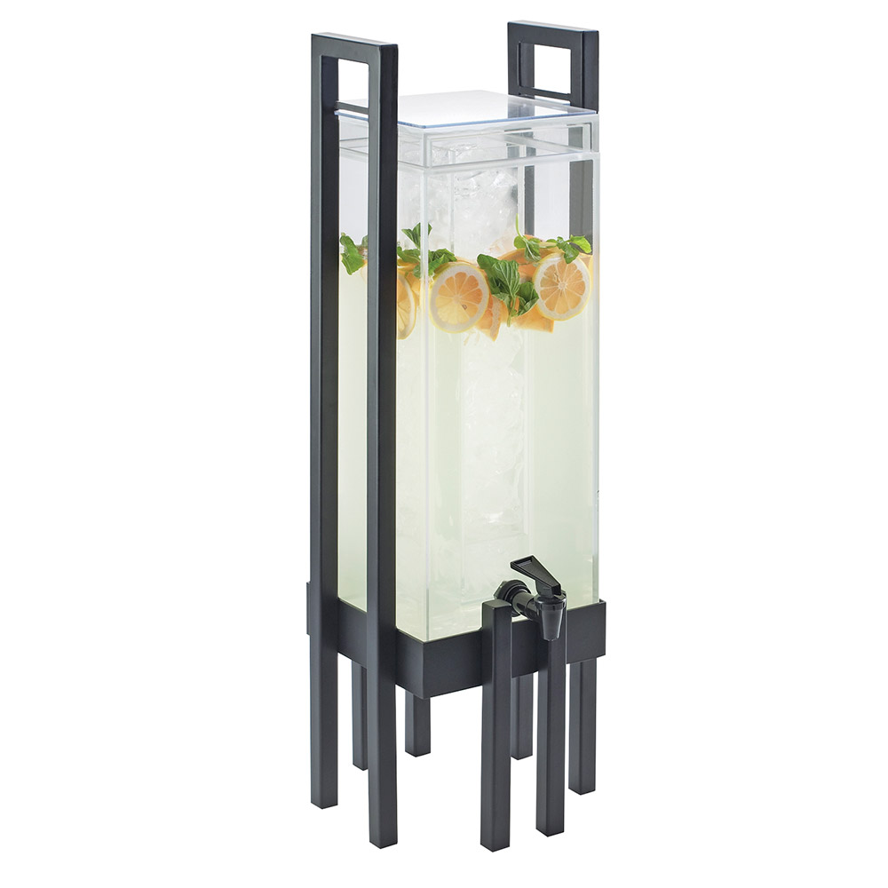 Cal-Mil 3302-3-13 3-gal One by One Beverage Infusion Dispenser - Lid, Spigot, Acrylic, Black