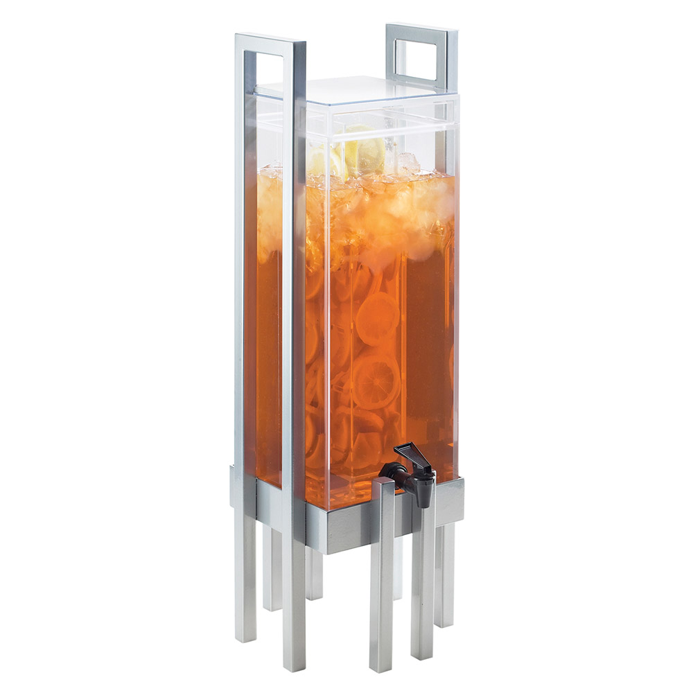 Cal-Mil 3302-3INF-74 3-gal One by One Beverage Infusion Dispenser - Lid, Spigot, Acrylic, Silver