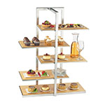 Cal-Mil 3303-60 5-Tier One by One Display Server Shelf - Bamboo