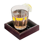 "Cal-Mil 330-4-52 4"" Square Woodland Drip Tray w/ Removable Inner Tray, Dark Wood"