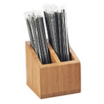 Cal-Mil 3308-60 2-Compartment Straw Holder - Bamboo