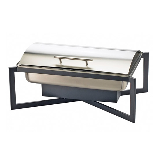 Cal-Mil 3321-13 Full Size Chafer w/ Roll-top Lid & Chafing Fuel Heat