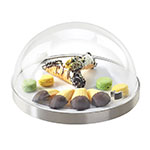 "Cal-Mil 3328-12-55 12"" Round Chill Sampler Display - Acrylic Dome, Stainless Steel"