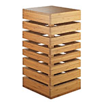 Cal-Mil 3331-60 Square Display Crate Tower - Bamboo