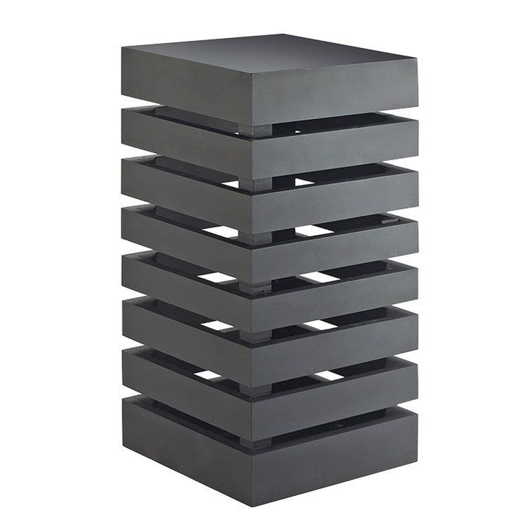 Cal-Mil 3331-96 Square Display Crate Tower - Midnight Bamboo