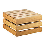 "Cal-Mil 3332-7-60 Square Crate Riser - 12x12x7"", Bamboo"