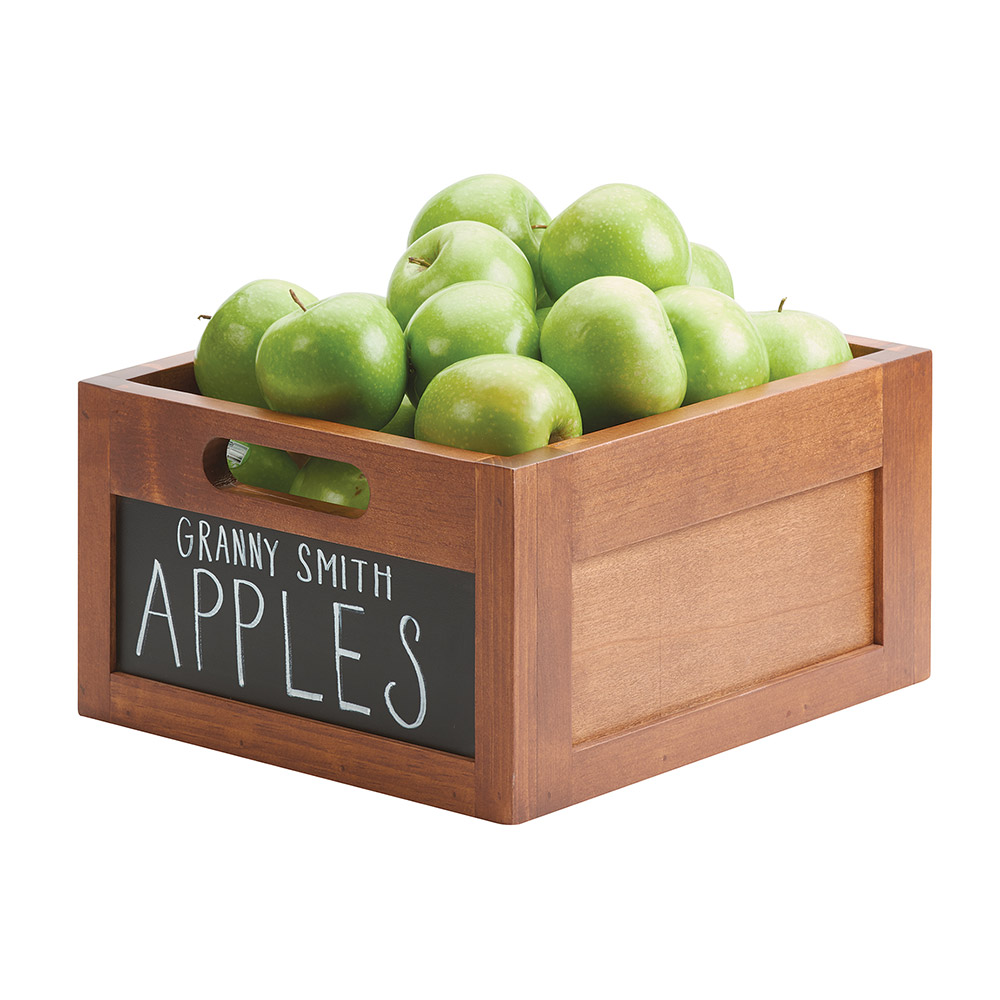 "Cal-Mil 3354-10 Write-On Ice Housing w/ Handles - 13"" x 11"" x 7"", Wood"