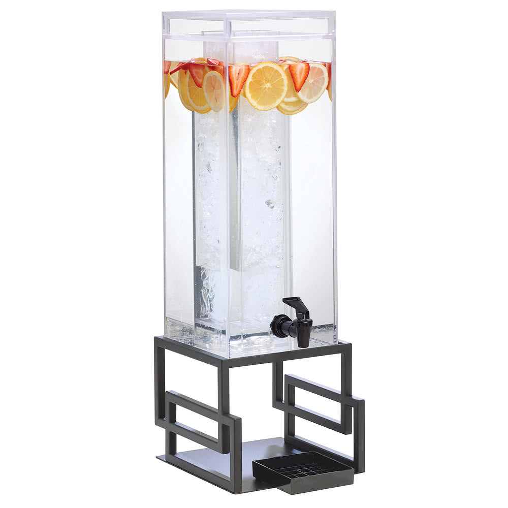 Cal-Mil 3370-3-13 3-gal Beverage Dispenser w/ Ice Chamber - Plastic w/ Black Metal Base