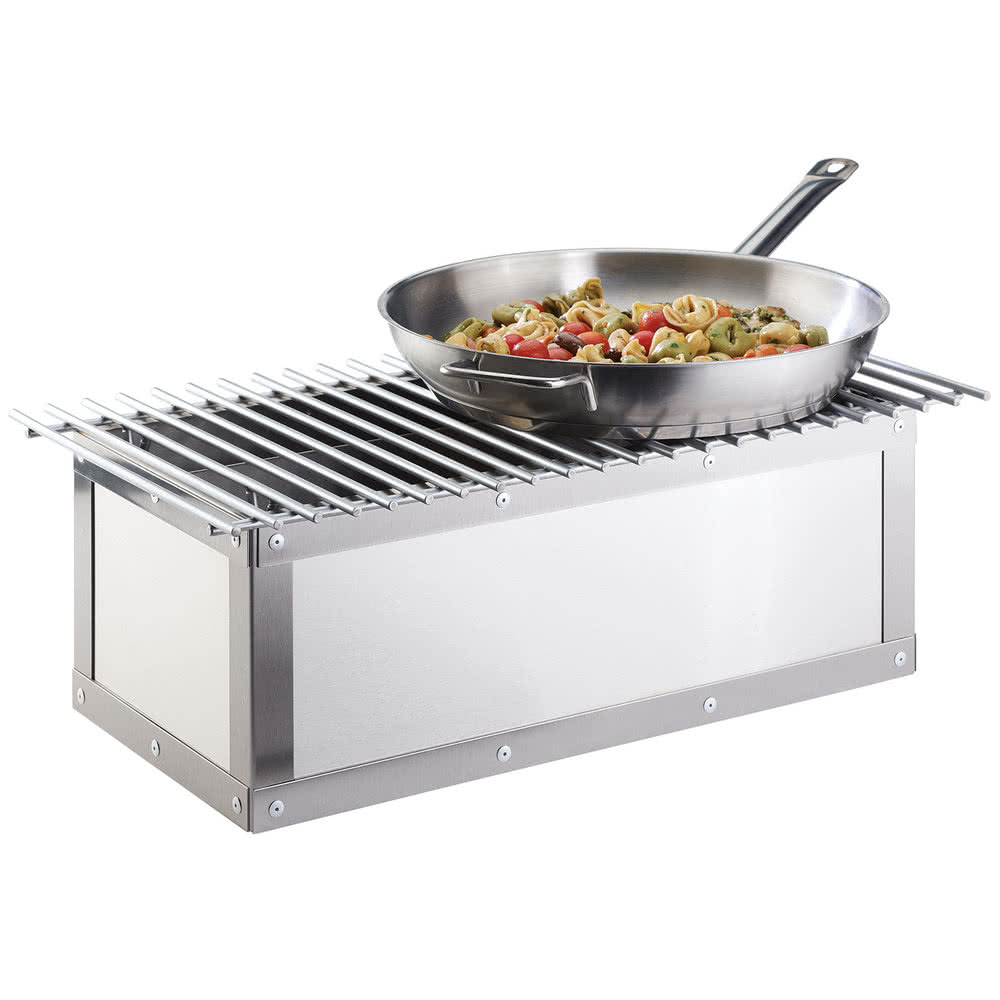 "Cal-Mil 3391-55 Chafer Grill w/ Fuel Holder - 21.87"" x 7.5"", Stainless"