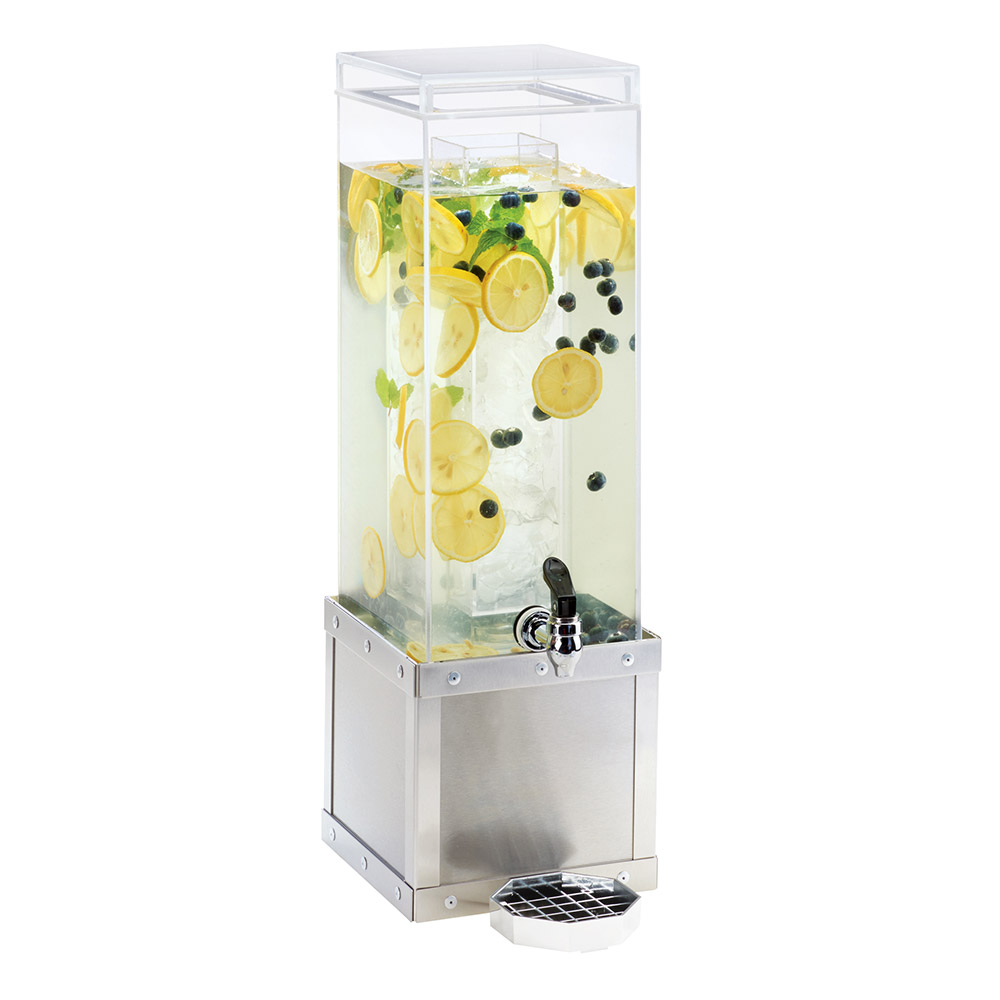 Cal-Mil 3394-3-55 3-gal Beverage Dispenser w/ Ice Chamber - Acrylic/Stainless