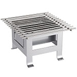 "Cal-Mil 3403-12-74 12"" Square Chafer Grill w/ Fuel Holder - Metal, Silver"