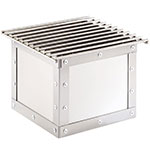 "Cal-Mil 3407-55 12"" Square Chafer Grill w/ Fuel Holder, Stainless"