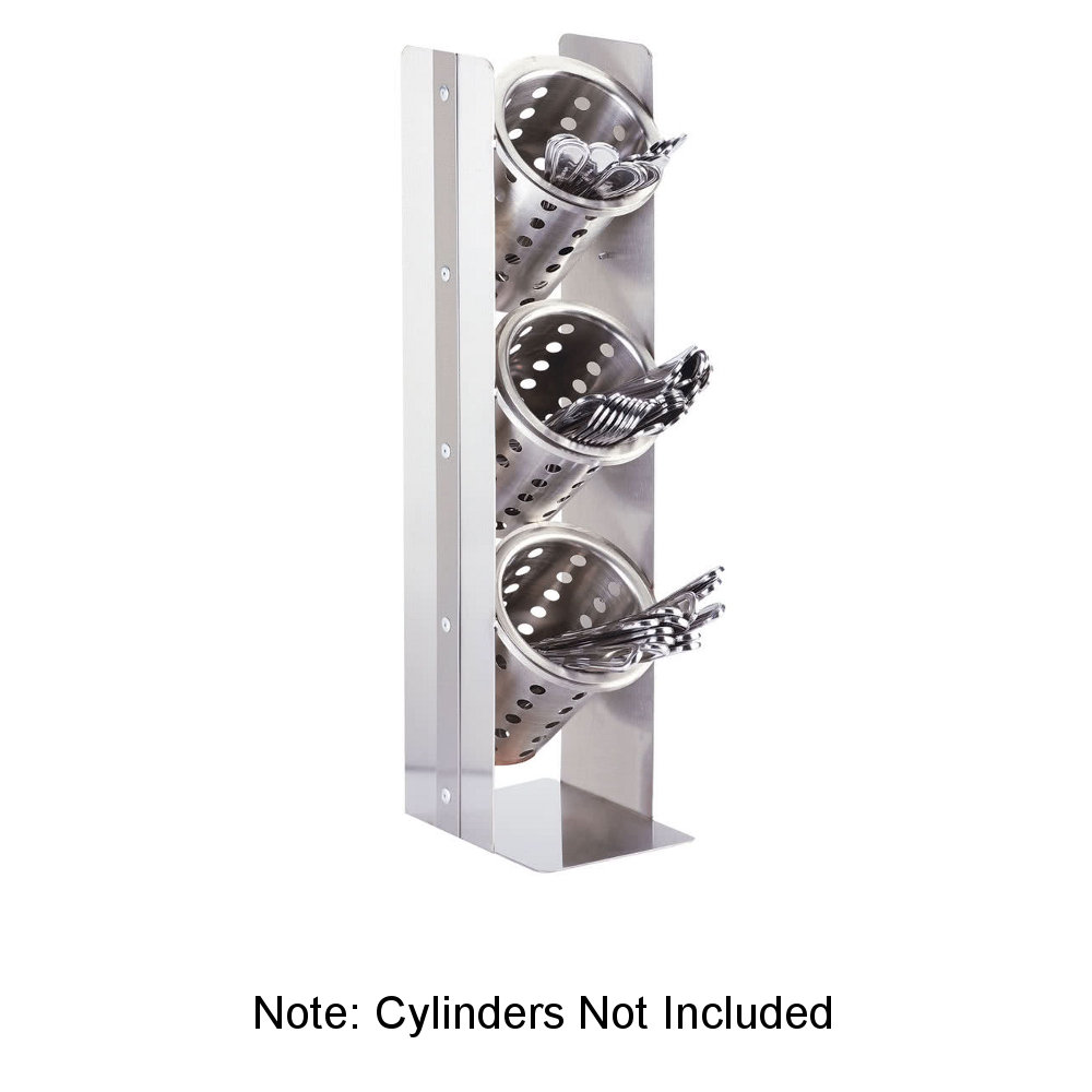 "Cal-Mil 3411-55 20.25"" 3-Section Cylinder Display, Stainless"