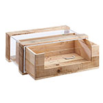 "Cal-Mil 3416 Single-Drawer Pastry Display Case - 22"" x 14.5"" x 9.25"", Wood"