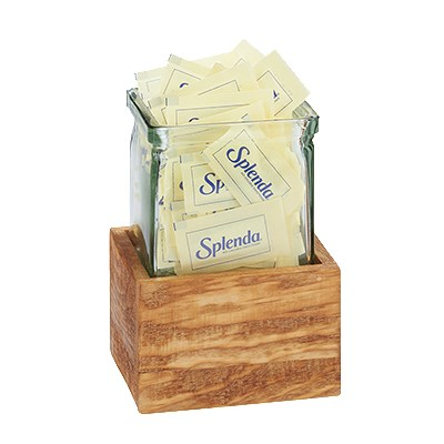 "Cal-Mil 3427-3-99 3-Tier Condiment Jar Riser Set w/ (3) 4"" x 4"" Jars, Reclaimed Wood"