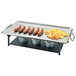 "Cal-Mil 3457-13 Chafer Grill w/ Fuel Holder - 23.25"" x 14"", Iron"
