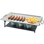 "Cal-Mil 3458-13 22.5"" Square Chafer Grill w/ Fuel Holder, Iron"