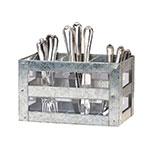 Cal-Mil 3596 3-Section Flatware Display Organizer w/ Handles, Galvanized Metal