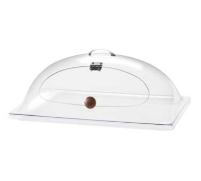 Cal-Mil 367-12 Heat Resistant Dome Chafer Display Cover w/ Hinged Door, Clear Poly