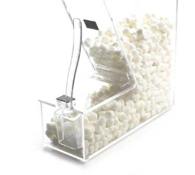 "Cal-Mil 373-H Topping Dispenser w/ Holster & Magnetic Lid, 4x11x11"", Clear"
