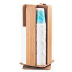 "Cal-Mil 378-60 Revolving Cup & Lid Organizer for 4"" Diameter Lids, Bamboo"