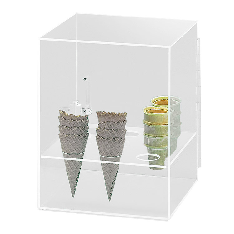 "Cal-Mil 386 9-Hole Cone Cabinet w/ 2"" Diameter Hole Size, Clear"