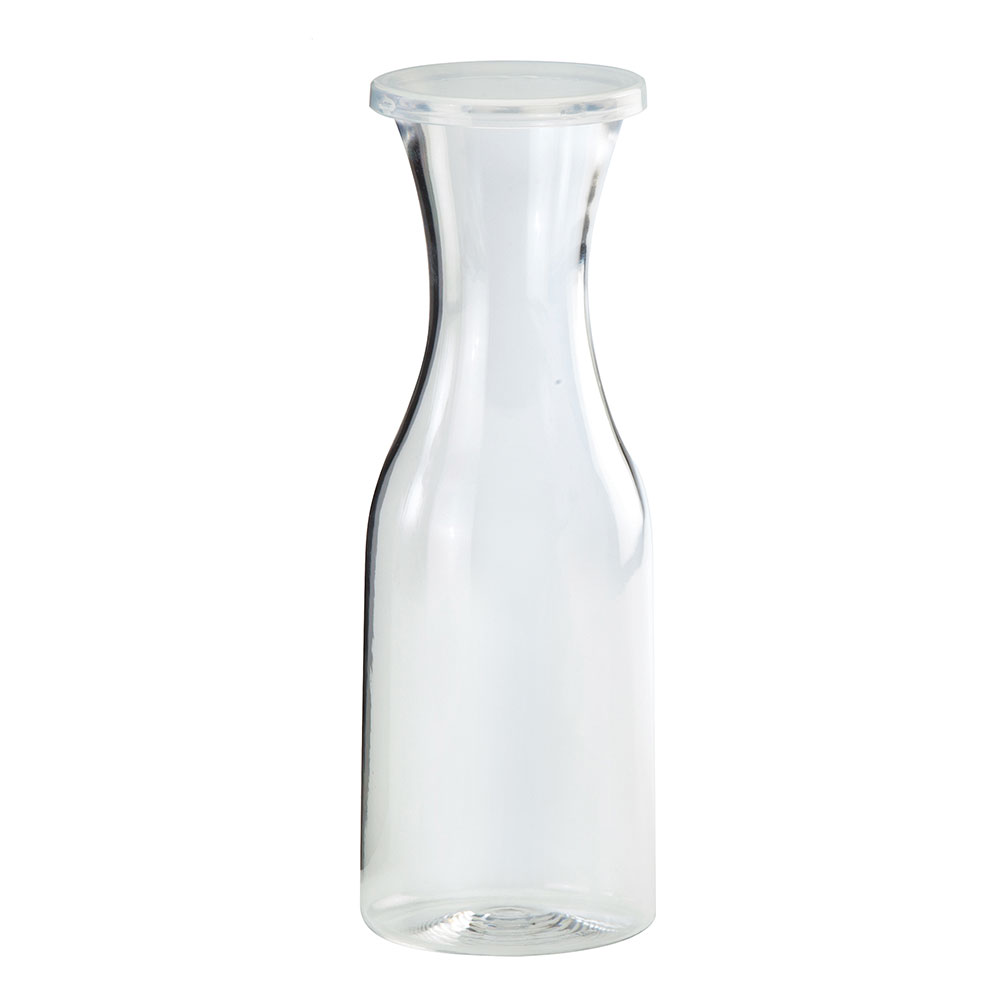 Cal-Mil 438 1-Liter Carafe w/ Lid, Clear Polycarbonate
