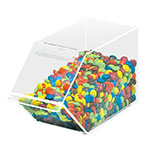 "Cal-Mil 492 Stackable Acrylic Topping Bin, 4.5x11x5.5"", BPA Free, Clear"