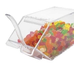 "Cal-Mil 492-H Stackable Topping Bin w/ Holster, 4.5x11x5.5"", Clear"