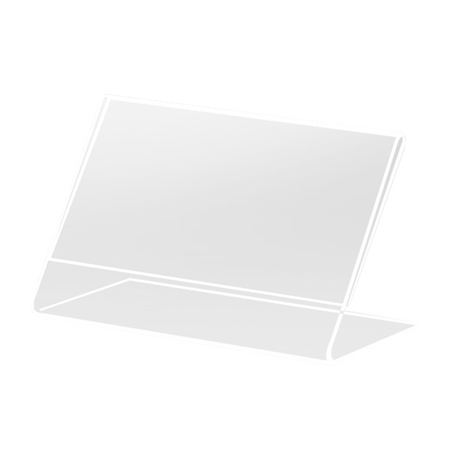 "Cal-Mil 509 Tabletop Menu Card Holder - 2"" x 3.5"", Acrylic"