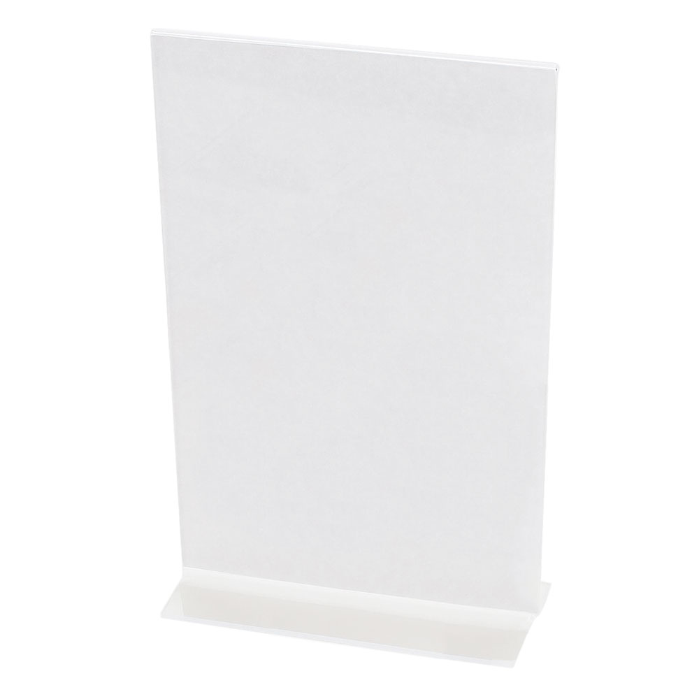 "Cal-Mil 524 Tabletop Menu Card Holder - 5.5"" x 8.5"", Acrylic"