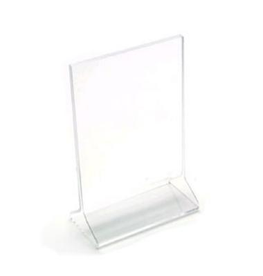"Cal-Mil 532 Tabletop Menu Card Holder - 4.5"" x 6.5"", Acrylic"