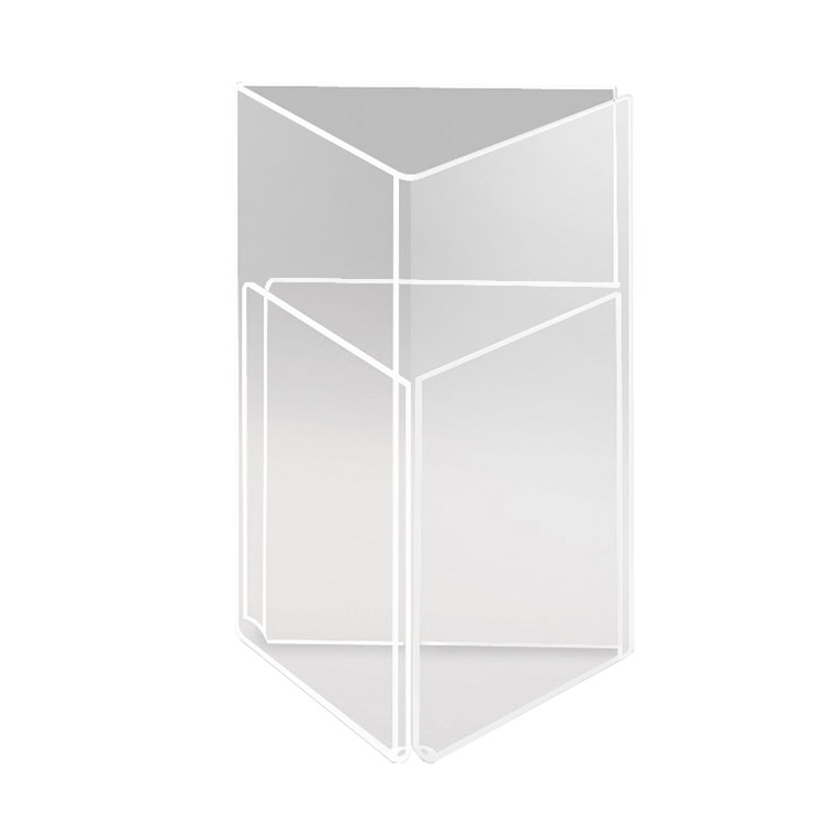 "Cal-Mil 541 Three-Sided Tabletop Menu Card Holder - 4"" x 6"", Acrylic"