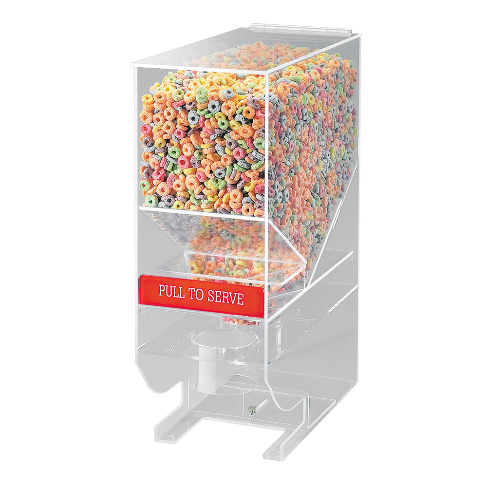 Cal-Mil 642 Portion Control Bulk Cereal Dispenser w/ 900-cu in Capacity, Clear
