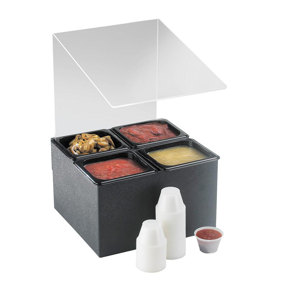 Cal-Mil 658 Salsa & Condiment Bar w/ (4) 1/6-Size Pans & Removable Sneezeguard