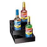 Cal-Mil 677 3-Tier Bottle Organizer w/ 6-Bottle Capacity, Black Acrylic