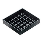 "Cal-Mil 681-4-13 Standard Drip Tray, Square, 4"" X 4 in, Black"