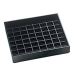 Cal-Mil 681-6-13 Standard Drip Tray, Square, 6 in x 6 in, Black