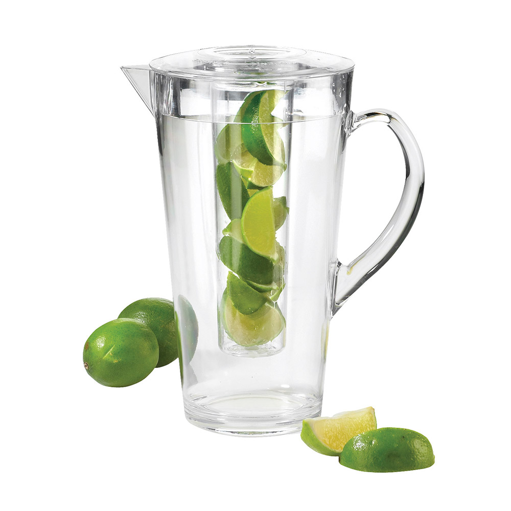 Cal-Mil 682-INFUSION 2 Liter Polycarbonate Pitcher, With Infusion Perforated Chamber