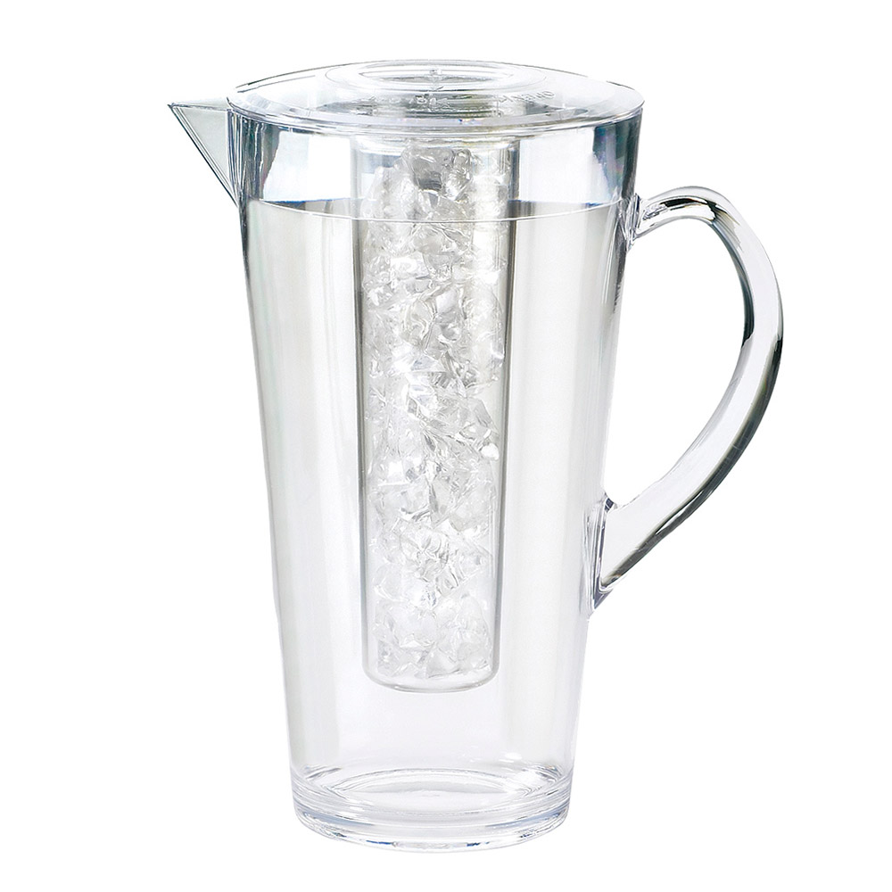Cal-Mil 682-ICE 2 Liter Polycarbonate Pitcher, With Ice Chamber