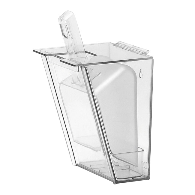 Cal-mil 793 Wall Mount Scoop Holder w/ 64-oz Scoop & Drip Tray