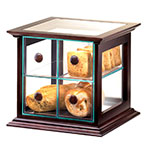 Cal-Mil 813-52 4-Drawer Bread Case w/ Wood Frame & Green Acrylic Body