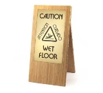 "Cal-Mil 852-60 Bamboo Wet Floor Sign, 12 x 17.5 x 22"", BPA Free"
