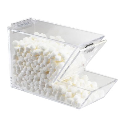 Cal-mil 927-H Stackable Topping Dispenser w/ Magnetic Lid, Holster, Clear