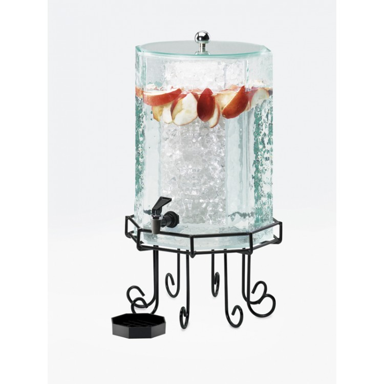 Cal-Mil 932-3INF 3-gal Beverage Dispenser w/ Infusion Chamber - Plastic w/ Black Wire Base