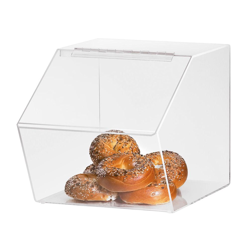 "Cal-Mil 943 Clear Acrylic Food Bin w/ Slant Front, 12.5 x 16 x 12.5"" High"