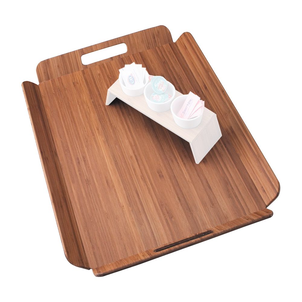 Cal-Mil 958-1-60 Room Service Tray w/ Bamboo Finish, 22.5 x 17""