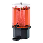 Cal-Mil 972-2-17 2-Gallon Octagon Beverage Dispenser w/ Ice Chamber & Charcoal Base