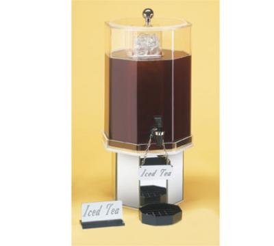 Cal-Mil 972-2-24 Pacific Beverage Dispenser, Octagon, 2 Gallon, Ice Chamber, Spigot