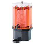 Cal-Mil 972-5-17 5-Gallon Octagon Beverage Dispenser w/ Ice Chamber & Charcoal Base